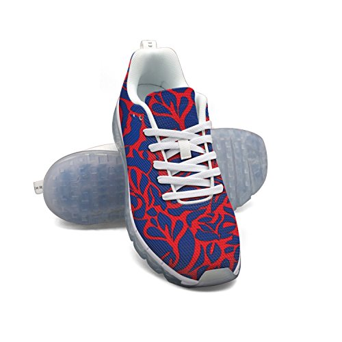 Faaerd Abstract Red Mens Moda Leggero Mesh Cuscino Daria Sneakers Scarpe Da Tennis