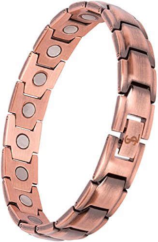 Elegant Pure Copper Magnetic Therapy Bracelet Pain Relief for Arthritis and Carpal Tunnel