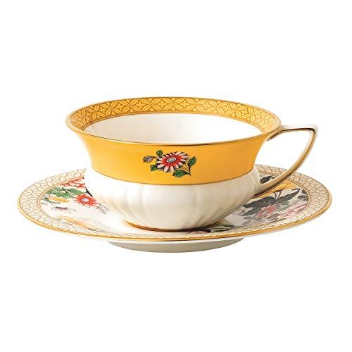 Wedgwood 40024020 Wonderlust Teacup & Saucer Set Primrose, 2 Piece from Wedgwood