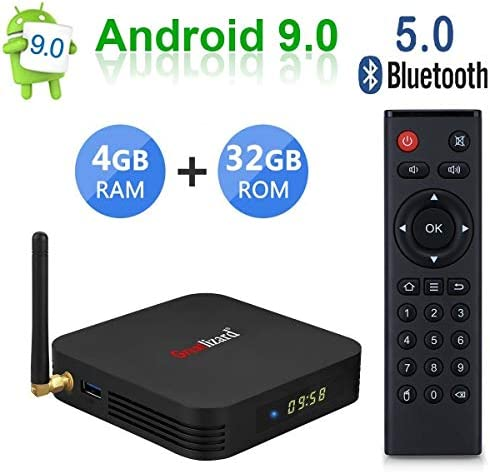 Greatlizard TX6 Android 9.0 Smart TV Box 4GB RAM 32GB ROM Vier Kern 4K HD Auflösung Dual WiFi 2.4G/5G Bluetooth 5.0 Set Top TV Box: Amazon.es: Electrónica