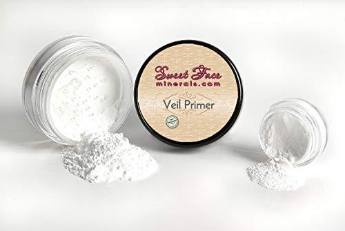 - VEIL PRIMER POWDER Oil Control Illuminating Mineral Makeup Bare Skin Setting Concealer (5 gram Sample Size Jar)
