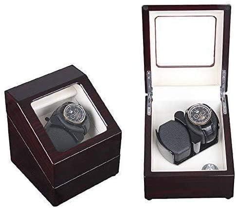 Atch Winders、自動巻き時計回転子ボックス、男性/女性用超静音モーター付きアクセサリー自動巻き時計用ダブルウォッチワインダー