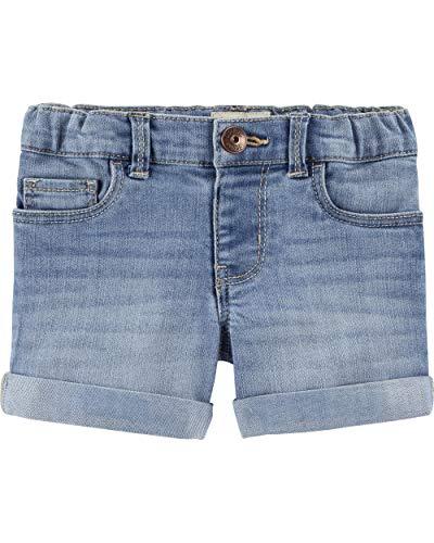 (Osh Kosh Girls' Toddler Denim Shorts, Sky Blue Wash, 5T)