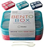6 Compartment Lunch Boxes. Bento Box Lunchbox Containers for Kids,...