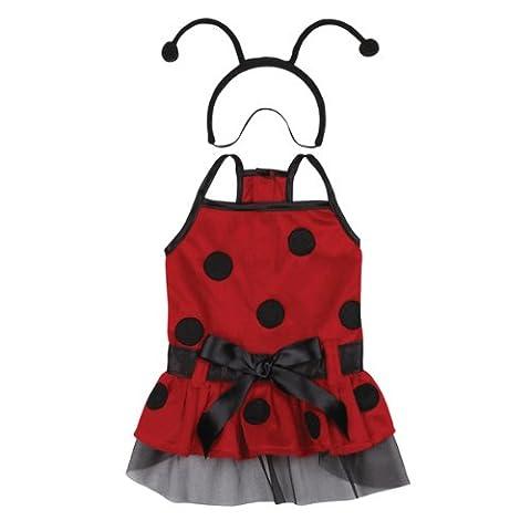 Casual Canine Plush Lady Bug Dog Costume, Medium, 16-Inch ()