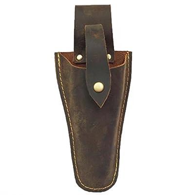 Leather Electrician Scissors Sheath Tool Holsters, Welding Pliers Belt Holder Gardening Case Pouch Bag for Pliers, Pruning Shears, Scissors or Garden Pruning Knife JDB01