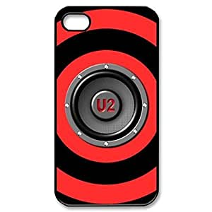 u2 Band 360 3D ~ Fashion Durable Unique RUBBER Durable Case Cover Skin for Apple iPhone 5 5S - Black Silicone Case / ABCone Tpu Protective 5/5S Case