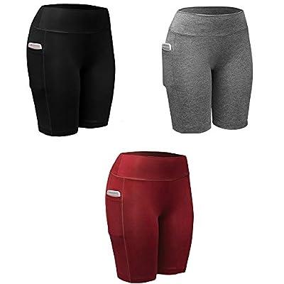 3 Pack Womens Yoga Shorts Workout Shorts Exercise Hot Shorts Hot Slimming Pants Quick Dry Hot Shorts F9005
