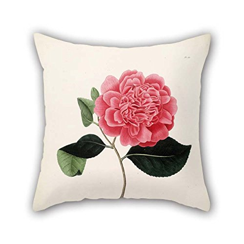 Pillow Covers Of Flower For Couples Couch Dinning Room Adults Home Lounge 16 X 16 Inches / 40 By 40 Cm(each Side) (Embroidery Swi)