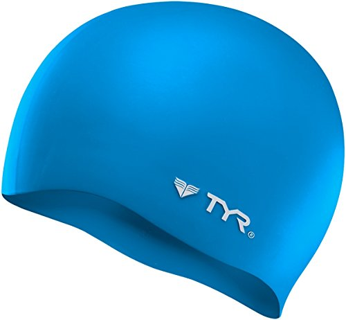 TYR Wrinkle Free Silicone Cap, Blue Grounded Silicone
