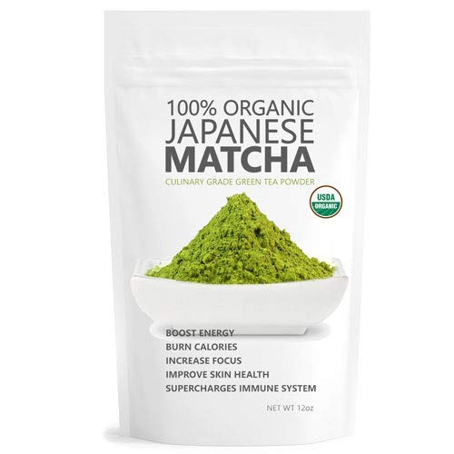 Pure Japanese Matcha Ryori 12oz | 100% USDA Organic Matcha Green Tea Powder | Culinary Matcha | Vegan and Gluten-Free | Matcha Green Tea Drink Energy Boost | Matcha Outlet