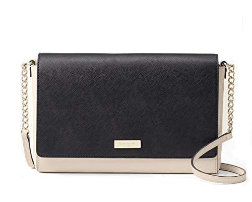 - Kate Spade New York Saffiano Charlotte Street Alek Crossbody Bag (Soft porcelain/black)