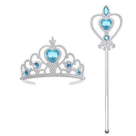 Bacchetta Magica e Diadema Corona della Principessa Elsa 2pz