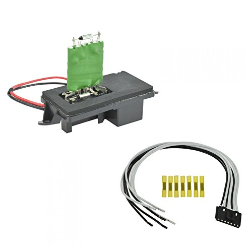 Front Heater Blower Motor Resistor w/ Plug & Pigtail for Chevy GMC Pickup Truck ()
