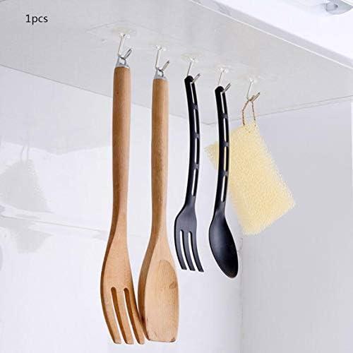 Adhesive Hooks Wall Hooks Strong Adhesive Hooks Seamless Transparent Hooks for Towel Loofah Bathrobe Coats Ceiling Hanger