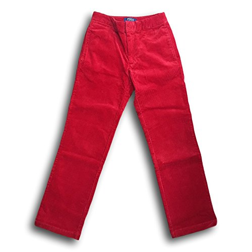 (RALPH LAUREN Boys' Slim Fit Corduroy Pants (20, Parkave Red))