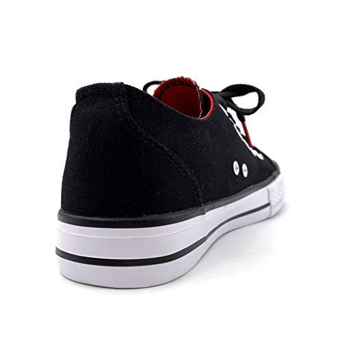 Scarpe 2 Sneaker Merletto Piatto Rosso Tacco Cm Moda Paillette Angkorly Donna 6qwd68