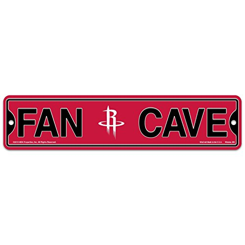 WinCraft Houston Rockets Basketball NBA Plastic 4'' x 17'' Street Sign by WinCraft