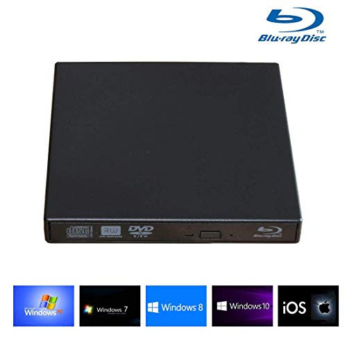 External Blu-ray Drives, External blu-ray DVD Drive for PC Computer USB 2.0blu-ray DVD CD Drive/BD - ROM, Support Super-Laptop Desktop Notebook PC -
