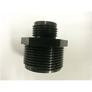 Sump pump hose adapter 1 1 4 npt to male 3 4 garden hose adapter f for Male to male garden hose adapter