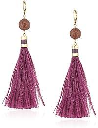 kate spade new york Tassel Purple/Multi-Colored Drop Earrings