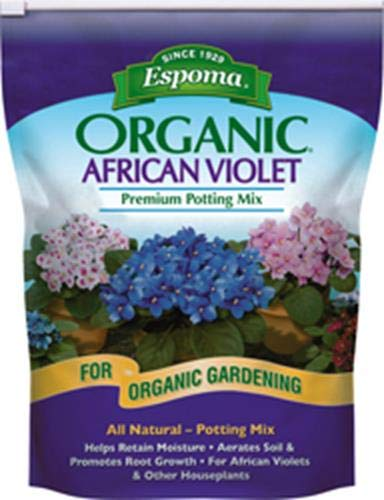 - Espoma AV4,  Organic African Violet Potting Mix, 4-Quart