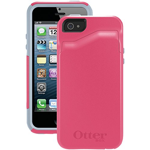OtterBox [Commuter Series] Apple iPhone 5 & iPhone 5S Wallet Case - Retail Packaging Protective Case for iPhone - Pink/Gray