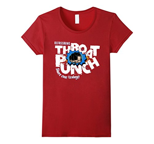 Cranberry Punch (Womens Refresting Throats Punch Share One Today T - Shirt XL Cranberry)