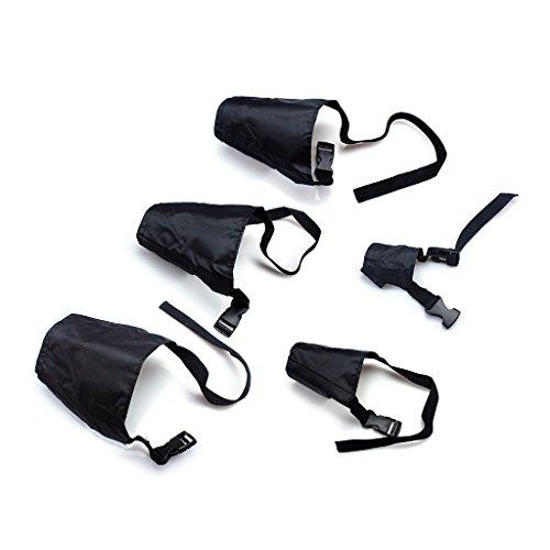 Ewin24 Paquete De 5 transpirable Seguridad Pequeño Mediano Grande Extra Negro perro Bozal Muzzel Ajustable