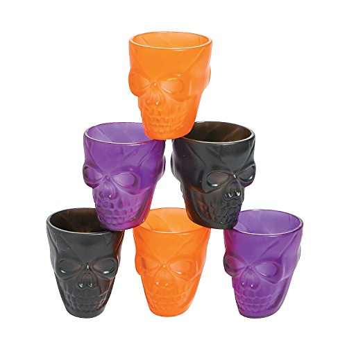Fun Express Skull Shot Glasses - 12 Pieces