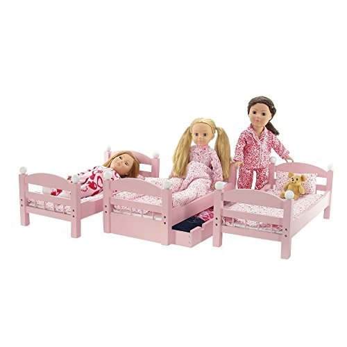 18 Inch Doll Furniture 3 Single Stackable Doll Beds
