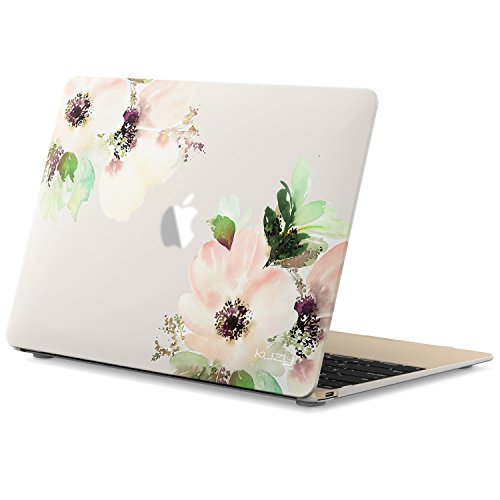 Kuzy MacBook 12 inch Case, Rubberized Hard Case for MacBook 12 Model A1534 (Newest Version) MacBook Case 12 inch Cover Shell - Flowers