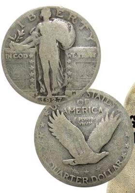 1919 -Various 1930 Standing Liberty Silver Quarter $1 25c Average Circulated