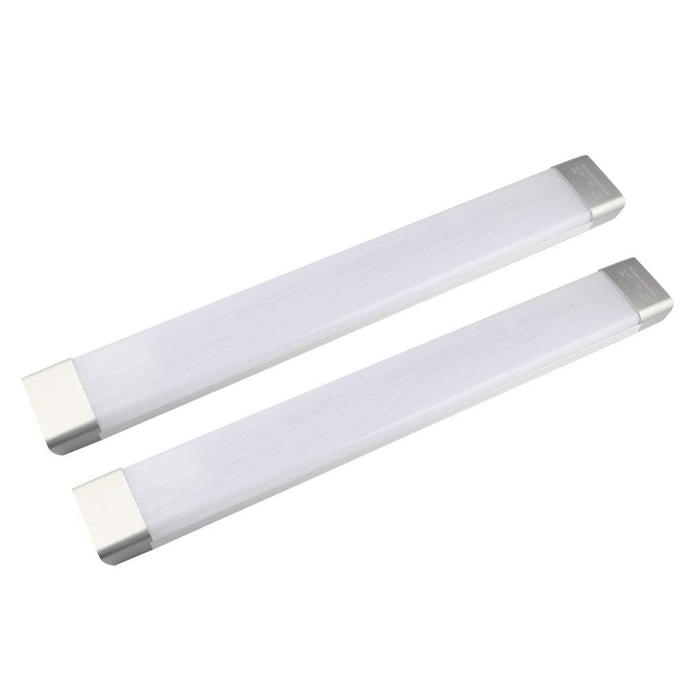 Galygg 2ft led tube light 26w 2300lm 3000k warm white fluorescent tubes replacement lighting fixtures for garage closet 2 pack