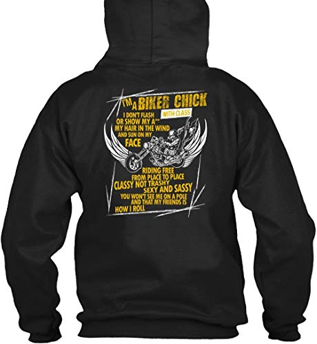 Father-I'm A Biker Chick T Shirt, My Hair in The Wind T Shirt Hoodie -