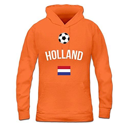 Sudadera con capucha de mujer Holland Fan by Shirtcity Naranja