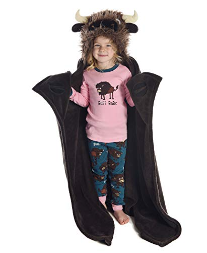 - I'm Buff Childrens Hooded Animal Critter Blankets by LazyOne | Childrens Dress Up Large Travel Blanket (ONE Size)