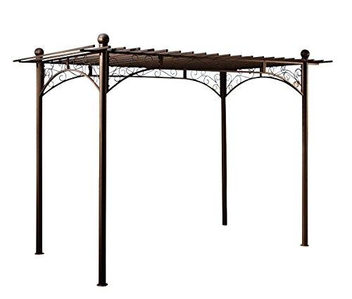 CLP Metall-Pergola Pavillon ULPGAR 01 A aus beschichtetem Eisen, Größe: 310 x 186 cm, Höhe 228 cm anthrazit