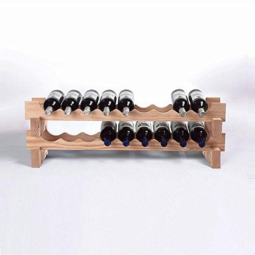 Wine Enthusiast 18 Stackable Natural