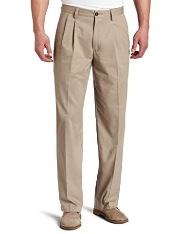 Dockers Men's Big & Tall Easy Khaki Comfort Waist Classic Fit Pleated Pant,New British Khaki,46 29