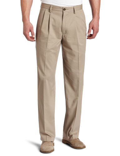 Pleated Casual Pant Khaki - 5