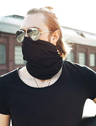 Unisex Neck Gaiter Face Scarf Face Cover Breathable for UV Protection Dust Wind Army Green