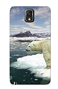 For Galaxy Note 3 Protector Case Bear White Nature Animal Ice Sea Phone Cover by lolosakes