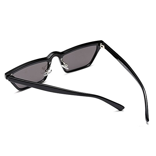 de mujer cuadrado mujeres sol de hombres top sol para Pequeño flat UV400 gafas TL Sunglasses gafas black negro Y1Iggx