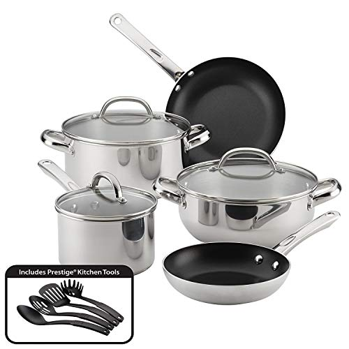 Farberware Buena Cocina Stainless Steel Cookware Set, 12-Pie