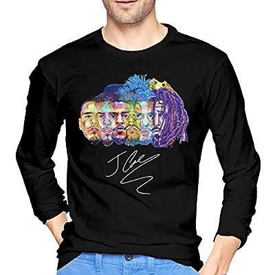 YouNood Mens Vintage J Cole Long Sleeve Tshirt Black