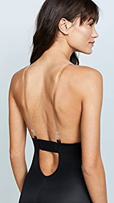 SPANX Womens Suit Your Fancy Plunge Low-Back Mid-Thigh Bodysuit from Spanx