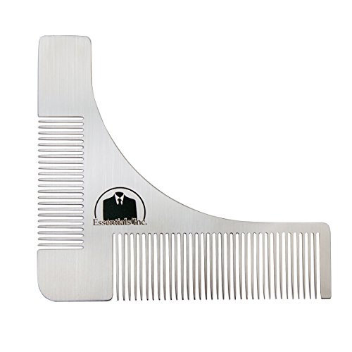 essentials beard shaping symmetric tool comb for shaving. Black Bedroom Furniture Sets. Home Design Ideas
