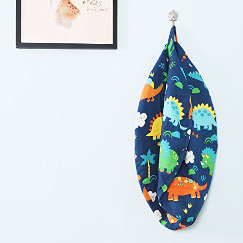 BROLEX 27'' Stuffed Animals Bean Bag Chair Cover-100% Cotton Canvas Kids Toy Storage Zipper Bags Comfy Pouf for Unisex Boys Girls Toddlar, Dinosaur Print by BROLEX (Image #5)