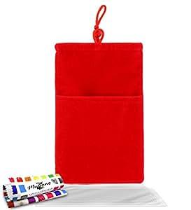 """Funda  SAMSUNG GALAXY BEAM [""""Cocoon""""] [Rojo] de MUZZANO + 3 Pelliculas de Pantalla """"UltraClear"""" + ESTILETE y PAÑO MUZZANO REGALADOS - La Protección Antigolpes ULTIMA, ELEGANTE Y DURADERA para su SAMSUNG GALAXY BEAM"""